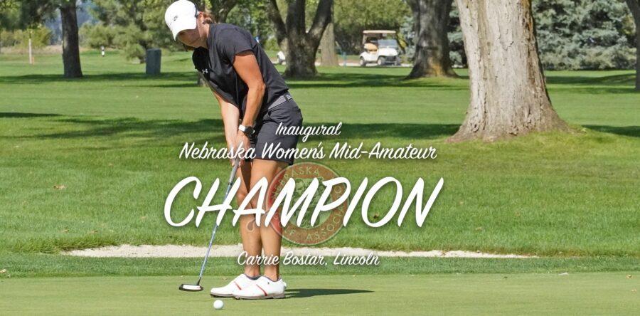 Bostar is First Nebraska Women's Mid-Amateur Champion
